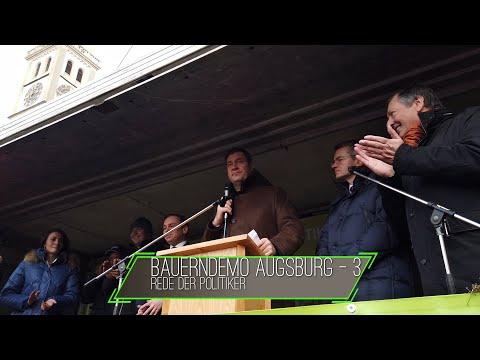 Bauerndemo / Kundgebung – In Augsburg 12.01.2020 - Rede Teil 2 - Markus Söder / Nicole Bauer
