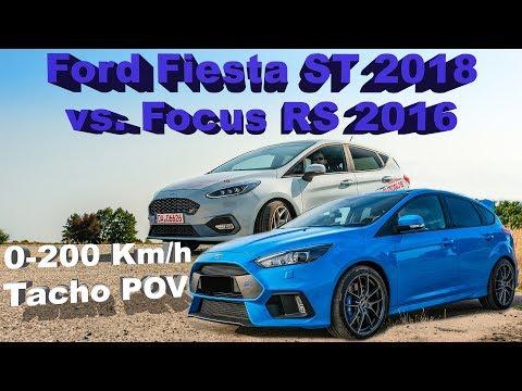 Ford Fiesta ST  vs. Ford Focus RS  - Km/h Tacho POV