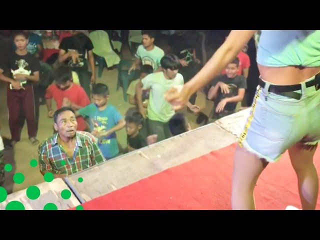 Man Can't Take his Eyes Off Female Dancer