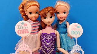Download lagu Brother or sister ? Elsa & Anna toddlers - surprise balloon - Barbie