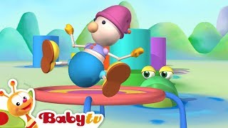 Repeat youtube video Playground of Toys | Trampoline and More Kids Toys | BabyTV