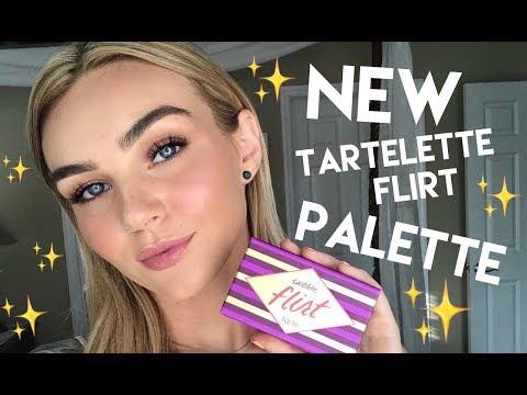 NEW Tartelette Flirt Palette Tutorial | Tarte Newness