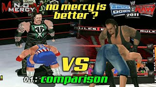 WWF NO MERCY VS SVR 2011 Moves comparison.. Which is better ??