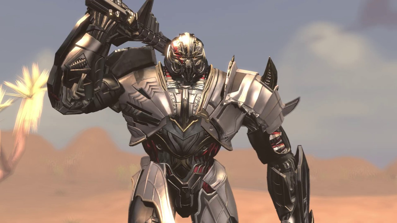 The Last Knight Megatron vs Gundam Iron Blood Orphan Barbados Lupus