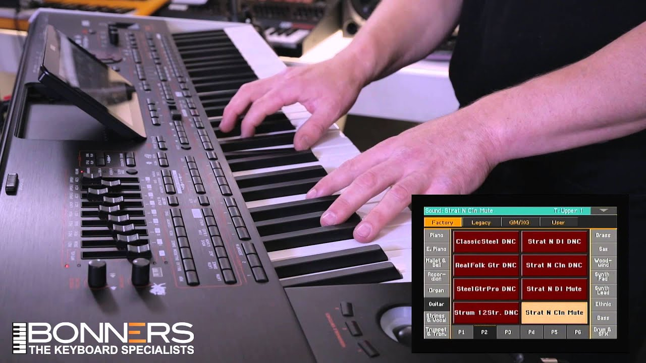 korg pa4x demo by bonners music part 3 guitar sounds youtube