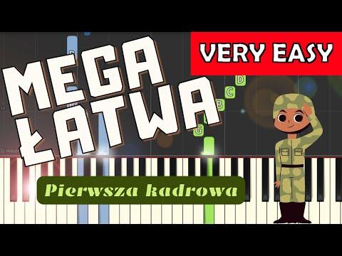 🎹 Pierwsza Kadrowa - Piano Tutorial (MEGA ŁATWA wersja) 🎹