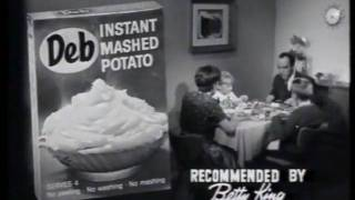 Deb Instant Mashed potato 1962 Commercial
