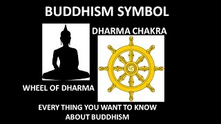 Buddhism Symbol and its meaning.Buddhist Icon.Wheel of Dharma