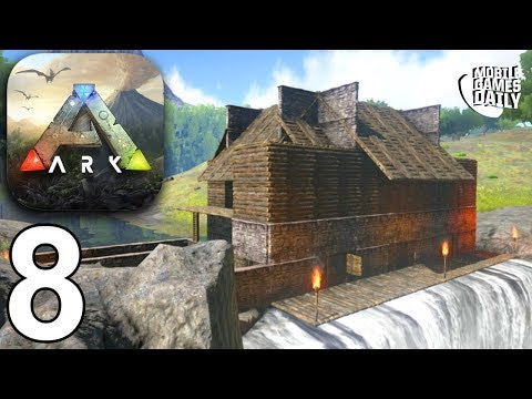 ARK SURVIVAL EVOLVED MOBILE - Wooden House - Gameplay Part 8 (iOS Android)