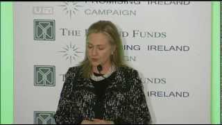 Hillary Clinton Honored in Belfast by The Ireland Funds