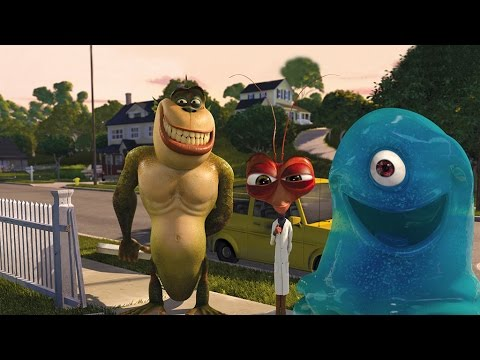 Monsters vs Aliens The Video Game Movie All Cutscenes