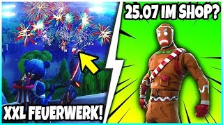 🎄 LEBKUCHEN Skin on 25.07 in the SHOP? 😱 XXL FEUERWERK & New Battle Bus - Fortnite Battle Royale