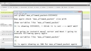 видео Fixed - MySQL: Warning: MySQL server has gone away