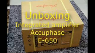 EP.1 Unboxing Accuphase E-650 Integrated Amplifier class A (Thai)