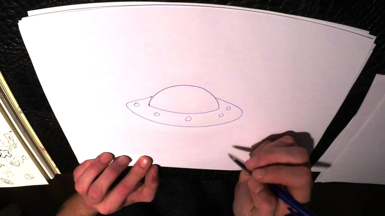 How To Draw A Ufo Youtube