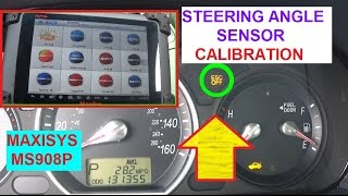 How to Calibrate Steering Angle Sensor with MS908  Demonstrated on Hyundai Sonata with ESC LIGHT ON