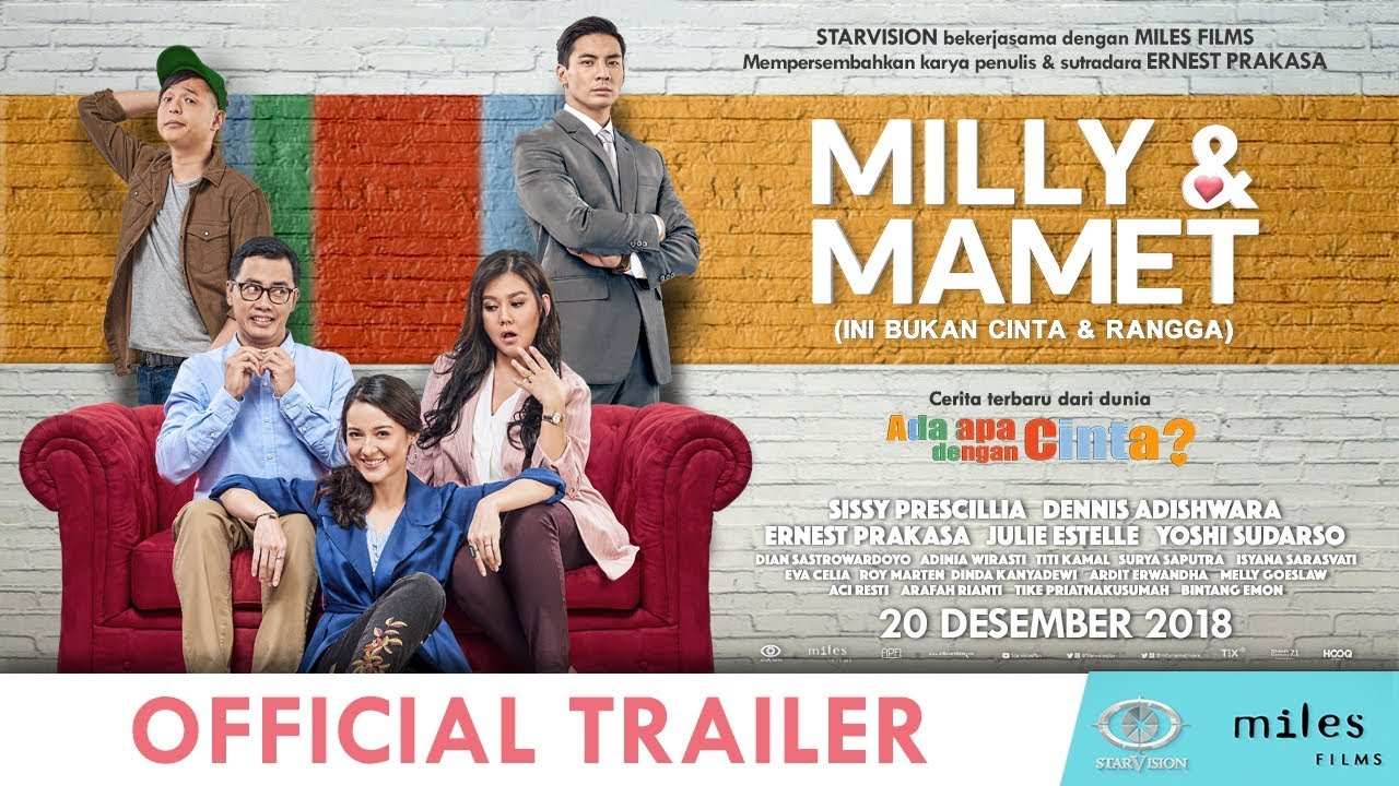 Download MILLY & MAMET (Ini Bukan Cinta & Rangga) - Official Trailer