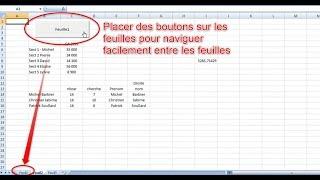 Utiliser des boutons pour changer de feuille sur Excel