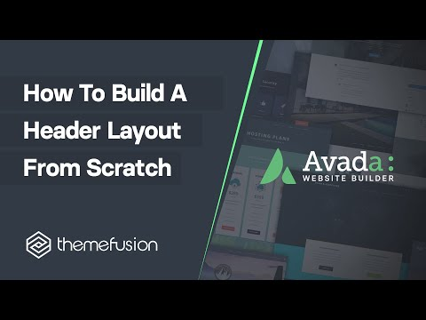 How To Build A Header Layout From Scratch Video