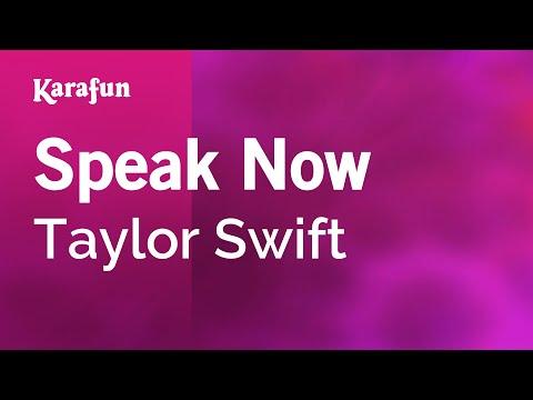 Karaoke Speak Now - Taylor Swift *