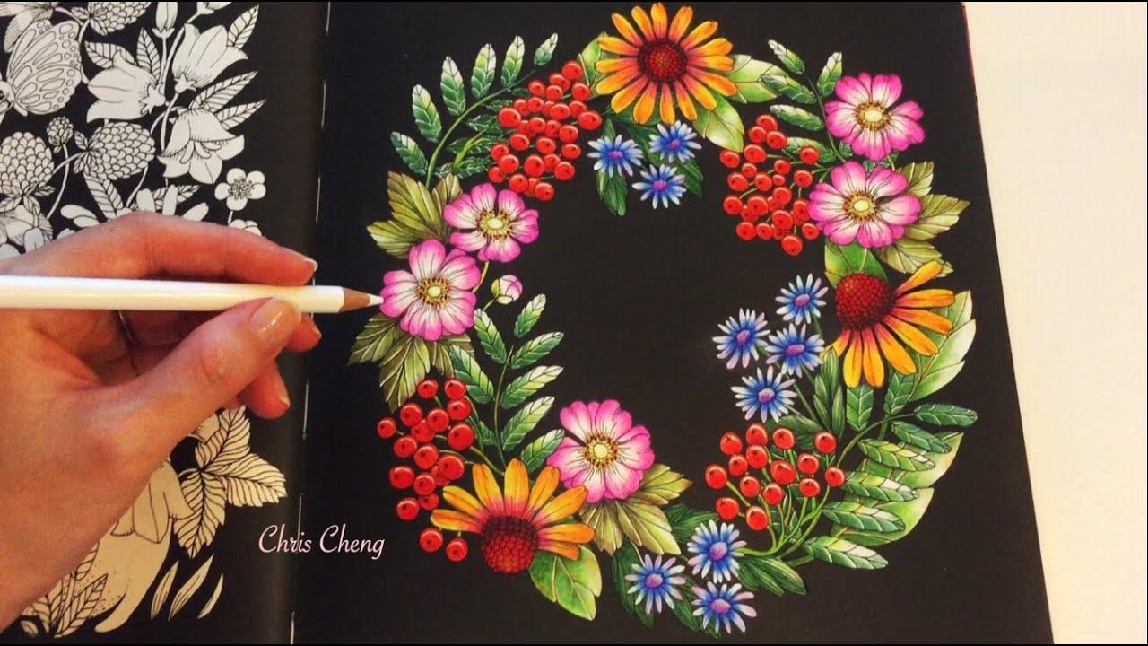 Secret garden coloring book website - The Garden Blomstermandala Coloring Book Coloring With Colored Pencils Youtube