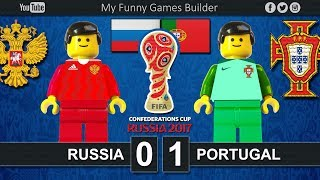 Russia vs Portugal 0-1 • Confederations Cup Russia 2017 • 17/06/2017 • Lego Football Film