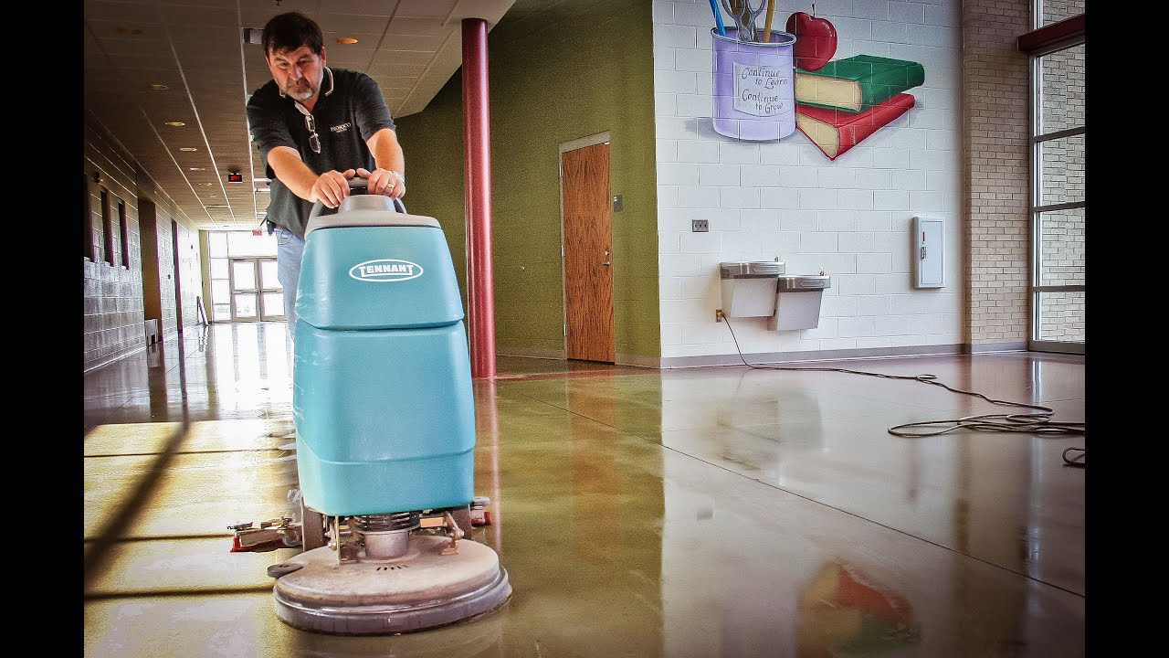 maintaining polished concrete floors youtube