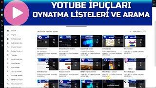 Oynatma Listeleri ve Kanal İçinde Arama