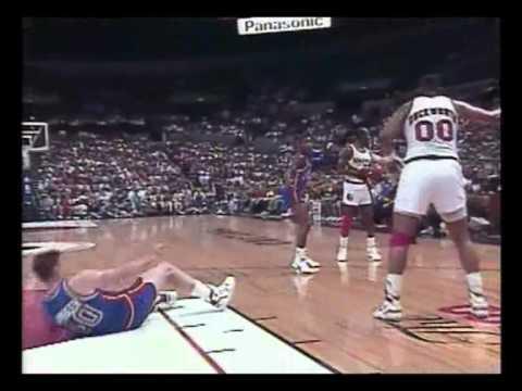 1990 NBA Finals- Detroit Pistons vs Portland Trail Blazers, Game 3.