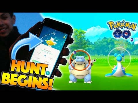 THE SHINY HUNT BEGINS! NEW EVENT WILD BLASTOISE, LAPRAS, & MORE IN POKEMON GO!