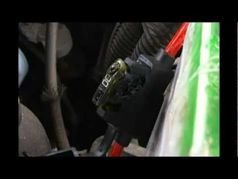 melted fuse block swap - YouTube