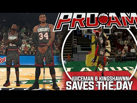 NBA 2K18 PRO-AM - JuiceMan & Shawn Saves The Day! Glide Gets POSTERIZED!!!