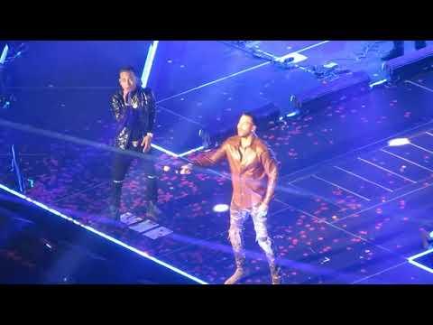 ROMEO SANTOS x OZUNA - El Farsante GOLDEN TOUR Concierto En Vivo HD NYC MSG