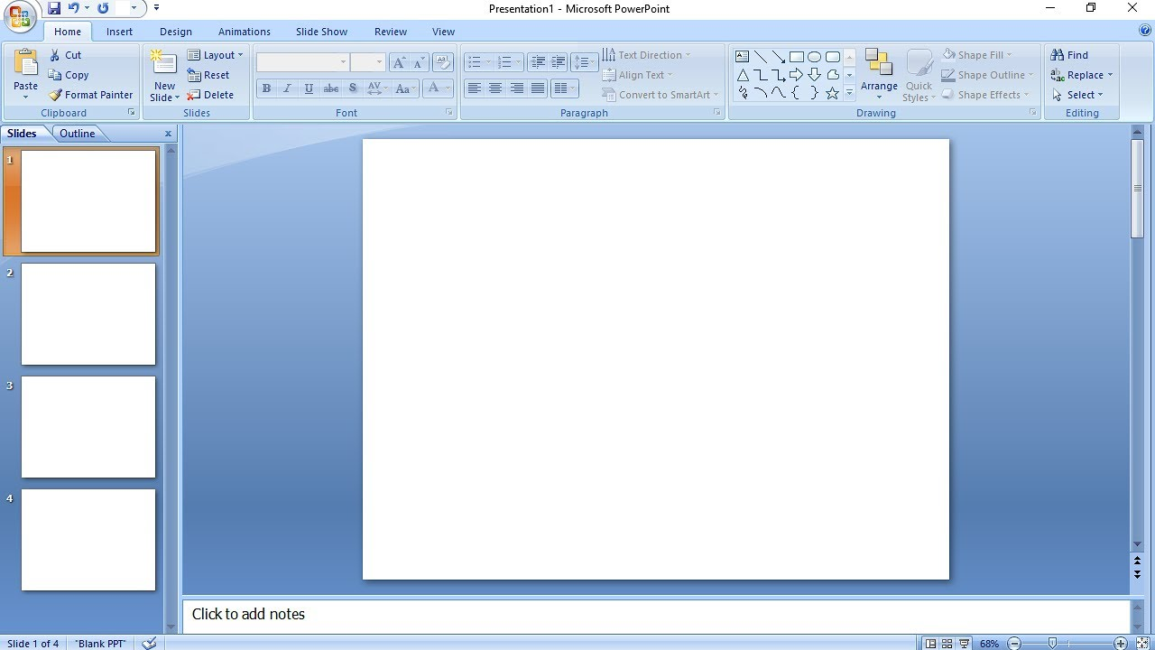 always open blank slide in powerpoint set blank slide layout easy