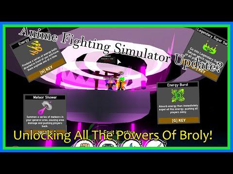 Unlocking All The Powers Of Broly! | Anime Fighting Simulator Massive Update!