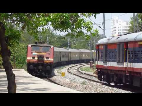 8 Km in 90 Minutes | Duronto follows Humsafar | Single line Effect - Indian Railways