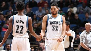 Andrew Wiggins & Carmelo Anthony GO AT IT! Wiggins Nails Game-Winning Halfcourt Buzzer-Beater