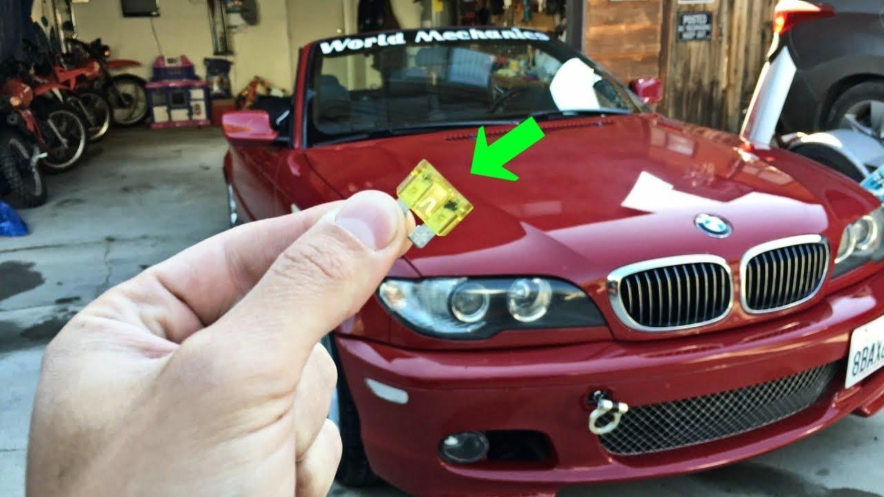 BMW E46 does not start Fuel PUMP FUSE Location Replacement 325i 328i 330i  320i 316i 318i - YouTubeYouTube