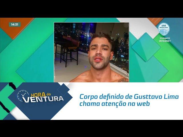 Corpo definido de Gusttavo Lima chama atenção na web