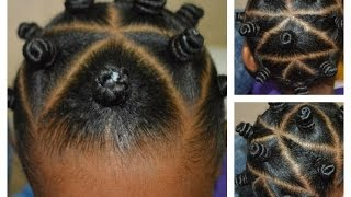 Easy Bantu Knot Style For Kids