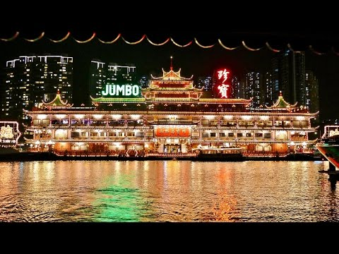 Jumbo Floating Restaurant, Hong Kong 2015 4k