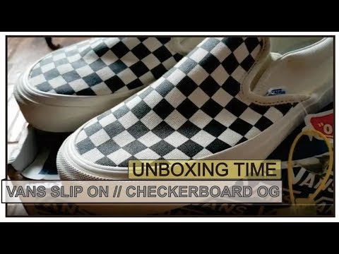 8ef9946101ee98 UNBOXING!! VANS SLIP ON CHECKERBOARD (BAHASA INDONESIA)