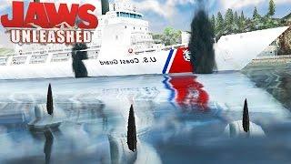 Jaws Unleashed - Ataque De Tubarão, Ataque Ao Barco, Perigo No Mar! | (#4) (PT-BR) Jogos De Tubarão