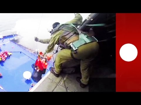 Italy ferry: Helicopter rescues in treacherous conditions