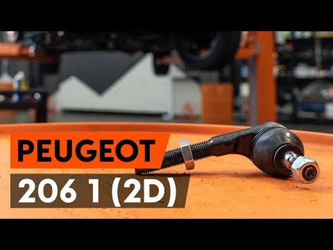 How to replace track rod end / tie rod end on PEUGEOT 206 1 (2D) [TUTORIAL AUTODOC]