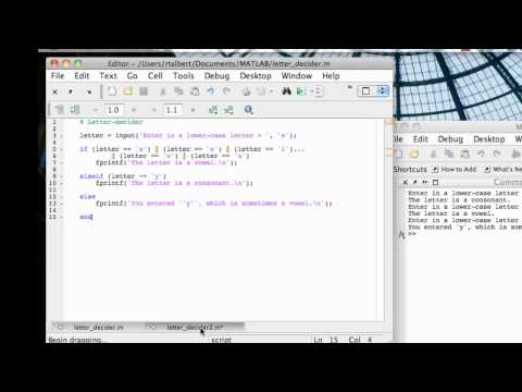 Branching Structures In MATLAB- SWITCH-CASE
