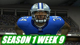 TURNING TO THE RUN GAME ESPN NFL 2K5 LIONS FRANCHISE VS REDSKINS S1W9 EP9