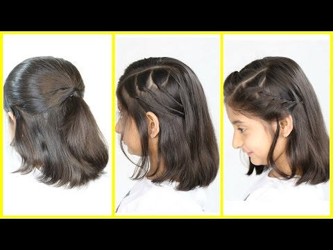 3 Simple & Cute Hairstyles for Short/Medium Hair
