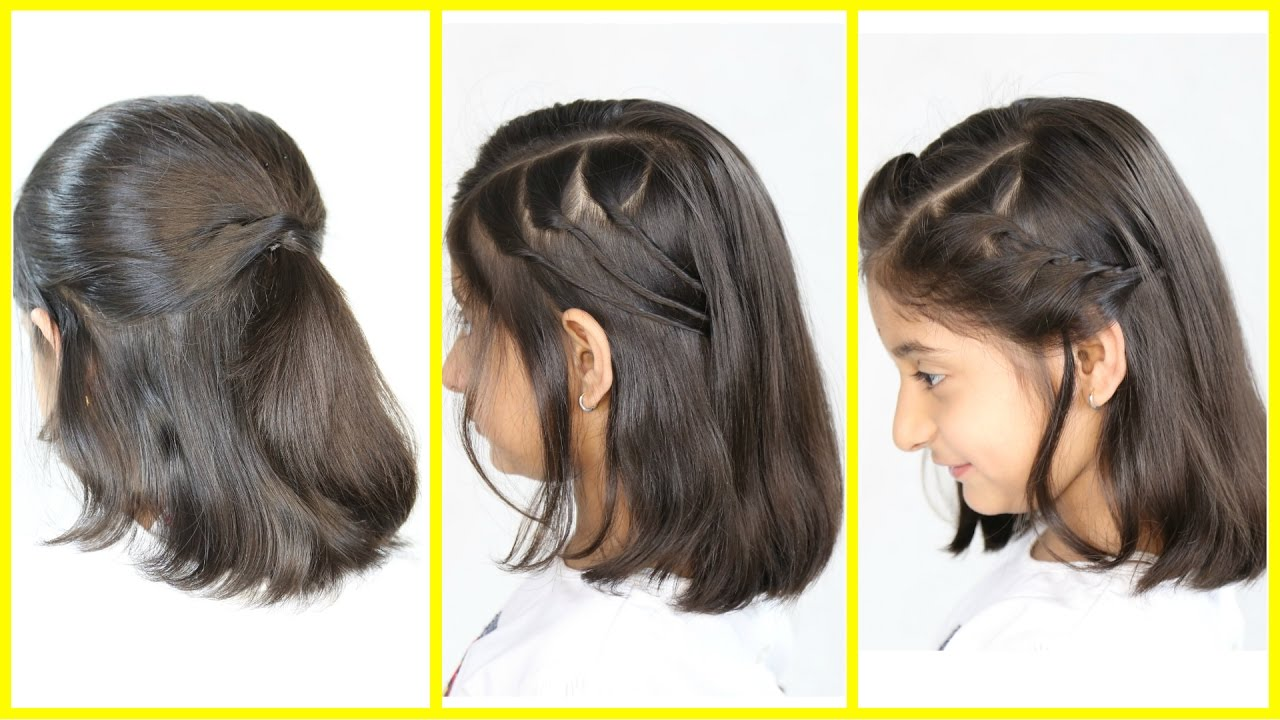 3 Simple & Cute Hairstyles (NEW) for Short/Medium Hair | MyMissAnand ...