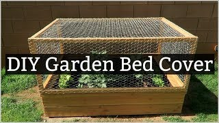 Easy DIY Garden Bed Cover (Protect your garden from unwanted critters)